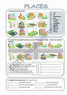 esl worksheets places in town 16001 places in town worksheet educacion ingles gram 225 tica inglesa clase de ingl 233 s
