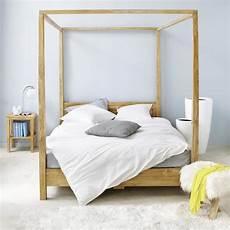 letto baldacchino letto a baldacchino 160 x 200 in acacia amsterdam