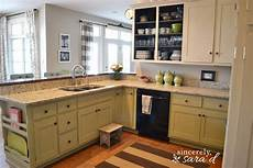 Painted Kitchen Furniture Painting Kitchen Cabinets With Chalk Paint Update