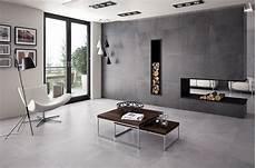 idée motif peinture murale salon avec carrelage gris clair cosmeticuprise