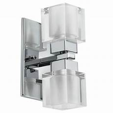 shop dainolite 2 light crystal cube wall sconce silver on sale free shipping today