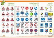 Verkehrszeichen Und Ihre Bedeutung - verkehrszeichen f 252 r fu 223 g 228 nger und zweiradfahrer lehrtafel