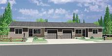duplex house plans with garage ranch duplex house plan covered porch 2 bedroom 1 bath 1