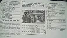 97 jeep wrangler fuse box diagram 97 tj fuse identification jeepforum