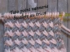 tuto point vannerie bicolore au tricot two color stitch