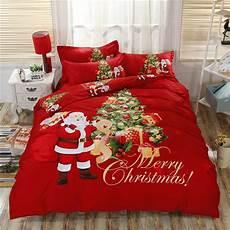 100 cotton christmas bedding santa claus duvet cover flat sheet queen king size soft