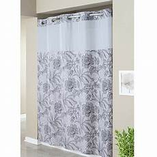 hookless mystery shower curtain hookless gray floral print mystery polyester shower