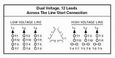dual voltage 3 phase motor wiring diagram find image