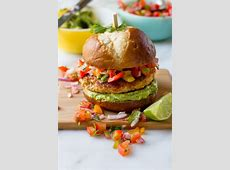 chicken burgers with avocado salsa_image