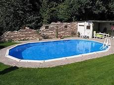 Stahlwandpool Oval Freistehend - stahlwandpool oval 6 10 x 3 60 x 1 32 m center pool