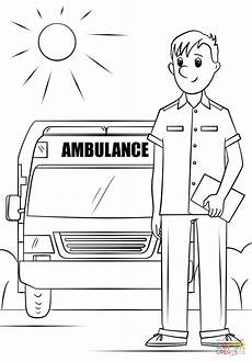 Driver Coloring Ambulance Driver Coloring Page Free Printable Coloring Pages