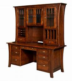 real wood home office furniture 73 quot amish executive computer file desk hutch home office
