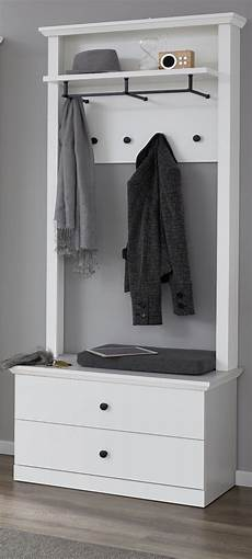 garderobe set schuhbank garderobenbank paneel in wei 223