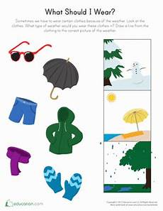 worksheets seasons and clothes 14754 pin on association