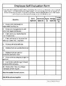 free basic employee self evaluation form from formville