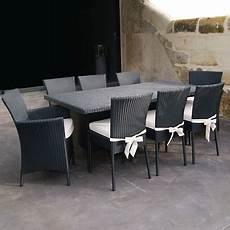 table et chaise de jardin solde table et chaise de jardin 6 places paladia soldes maison