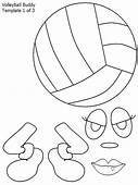 Volleyball Buddy Coloring Page  Download & Print Online