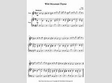 the wild mountain thyme song