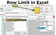 maximum number of worksheets in excel row limit in excel how to limit the number of rows in excel worksheet