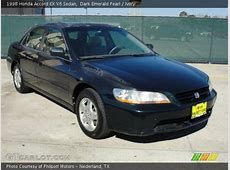 Dark Emerald Pearl   1998 Honda Accord EX V6 Sedan   Ivory