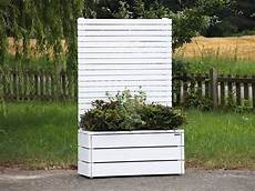 Pflanzkübel Als Sichtschutz - sichtschutz mit pflanzkasten holz oberfl 228 che wei 223