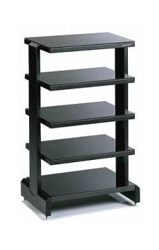 sound organisation z560 adjustable hifi rack black for