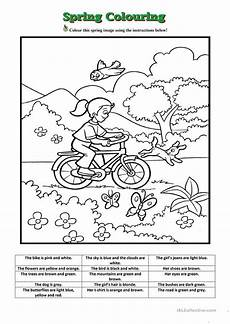 spring colouring worksheet free esl printable worksheets made by teachers