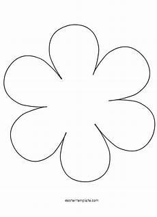 6 Petal Flower Flower Petal Template Flower Template