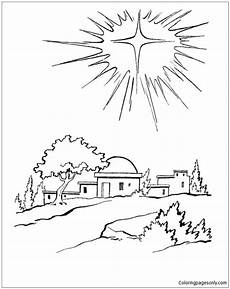 bethlehem coloring page free