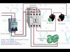 wiring diagram contactor single phase motor contactor wiring diagram in urdu hindi youtube