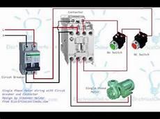 contactor diagram single phase motor contactor wiring diagram in urdu hindi youtube
