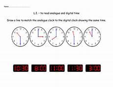 matching analogue and digital clocks by nickybo teaching