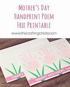 s day printable handprint poem 20557 s day plant printable gift tags the crafting