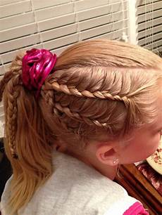 gymnastics hairstyle lace braids hairstyles pinterest