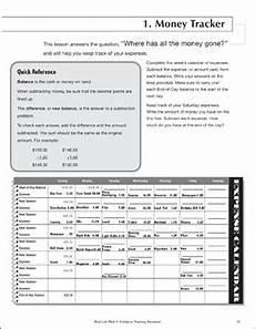 daily math money tracker life skills practice math printable skills sheets