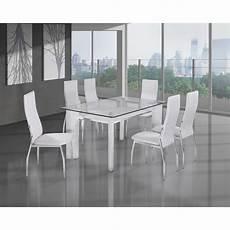ensemble chaise et table verre discount comforium
