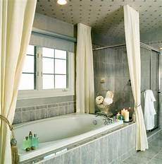 Bathroom Ideas Curtains by A Bathroom With Yellow Vintage Tile The Most Impressive