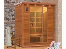 cabine de sauna cabine de sauna infrarouge 3 personnes l 160 x l 115 x