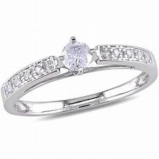 1 4 carat t w diamond engagement ring in 10kt white gold