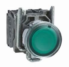 bouton poussoir lumineux affleurant 1no 1nf vert 2