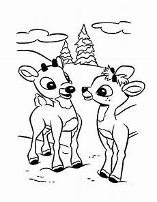 rudolph the nosed reindeer coloring pages sketch
