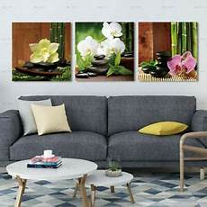 zen stone flower bamboo canvas painting wall art picture poster home decor ebay