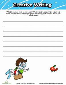 creative writing worksheets for grade 4 22885 creative writing prompts 3rd grade worksheets education