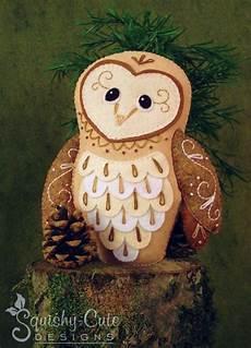 barn owl sewing pattern pdf woodland stuffed animal felt