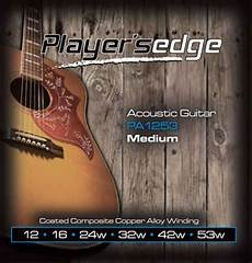 guitar strings 12 53 players edge acoustic guitar strings 12 53 mcquade musical instruments