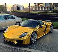 LD'S FIRST CHROME GOLD WRAPPED PORSCHE 918 SPYDER SPOTTED