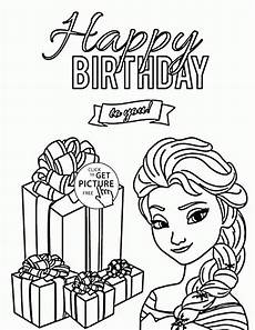 happy birthday to you from elsa coloring page for