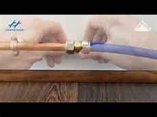 plomberie sans soudure per passer du cuivre au multicouche ou per en un seul raccord