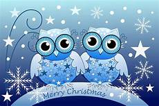 quot cute blue owls merry christmas text card quot greeting cards by walstraasart redbubble