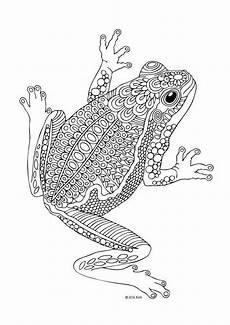Ausmalbild Frosch Mandala Rosnička Lots Of Amazing Zentangled Animals Here For